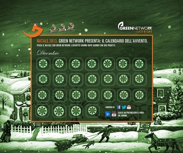foto Calendario avvento Green Network grafica