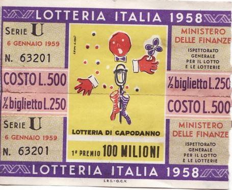 Biglietto lotteria capodanno