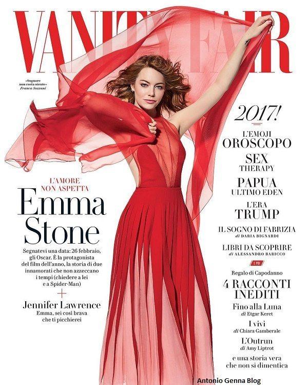 """Edicola – """"Vanity Fair"""" #1/2017: """"Emma Stone – L\'amore non aspetta ..."""