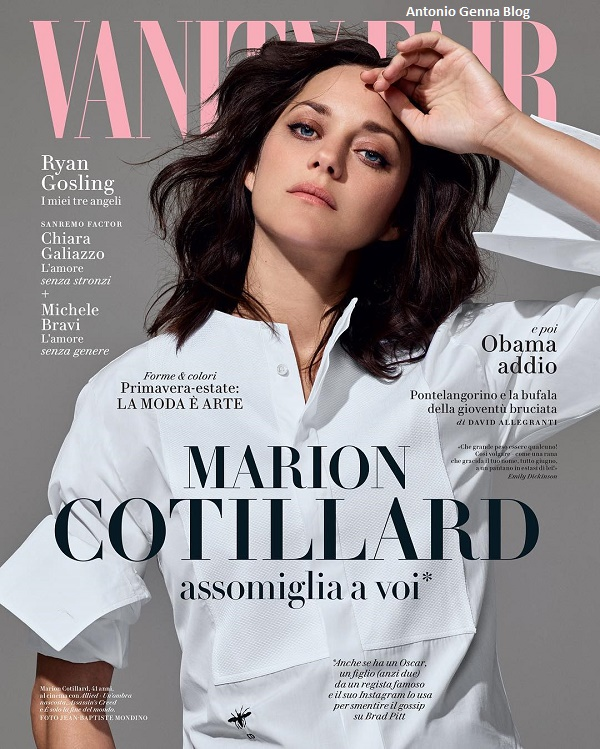 """Edicola – """"Vanity Fair"""" #3/2017: """"Marion Cotillard assomiglia a ..."""