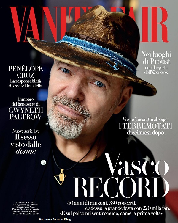 "Edicola – ""Vanity Fair"" #25/2017: ""Vasco record"" Antonio ..."