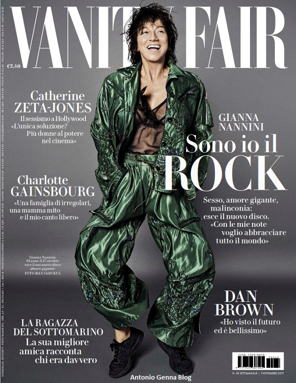 "Edicola – ""Vanity Fair"" #43/2017: ""Gianna Nannini: sono io il Rock ..."