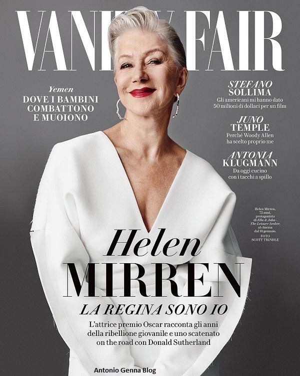 """Edicola – """"Vanity Fair"""" #50/2017: """"Helen Mirren: la Regina sono io ..."""