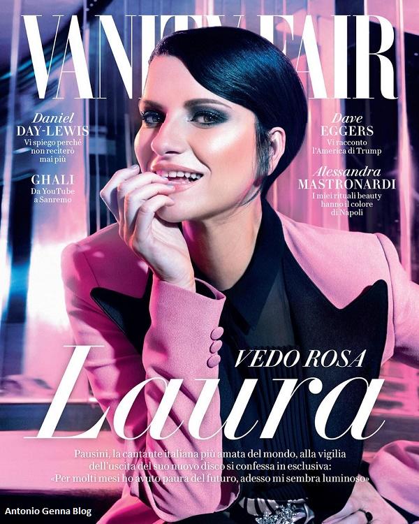 """Edicola – """"Vanity Fair"""" #4/2018: """"Laura Pausini: vedo rosa ..."""