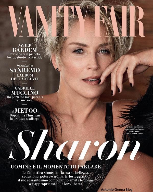 """Edicola – """"Vanity Fair"""" #6/2018: """"Sharon Stone – Uomini: è il ..."""